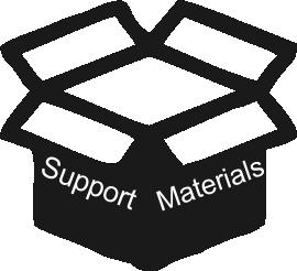 Support materials box